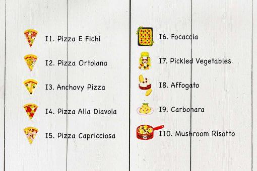 Italian Food Postcard Collection