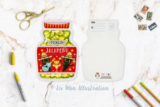 Jalapeno Postcard