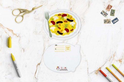 Mushroom Omelette Postcard