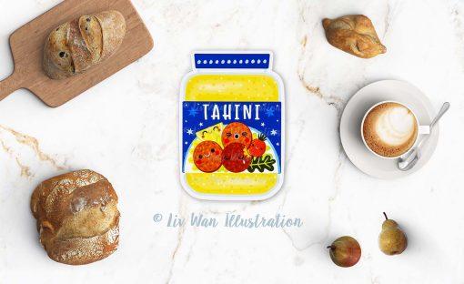 Tahini Sauce Postcard