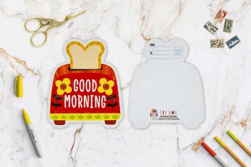 Cute Toaster Postcard