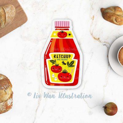 Tomato Ketchup Postcard
