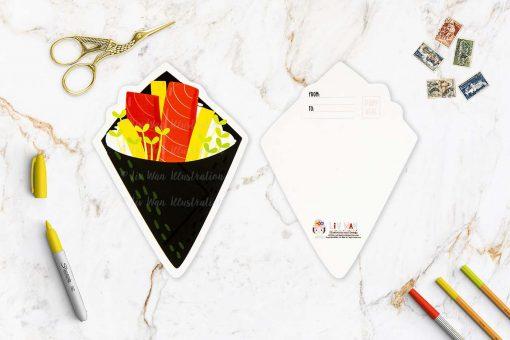 Tuna Temaki Postcard