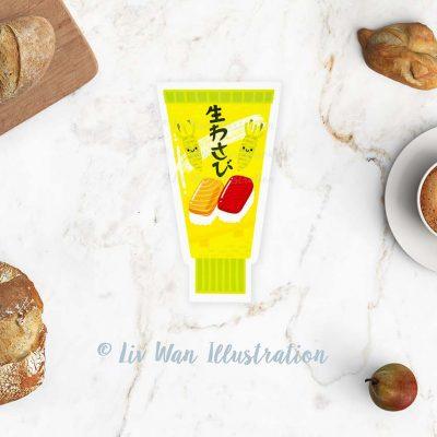 Wasabi Postcard
