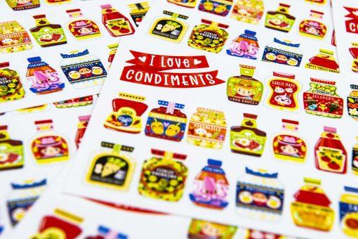 I love Condiments Postcard
