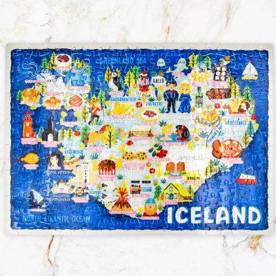 Iceland Map Jigsaw Puzzle