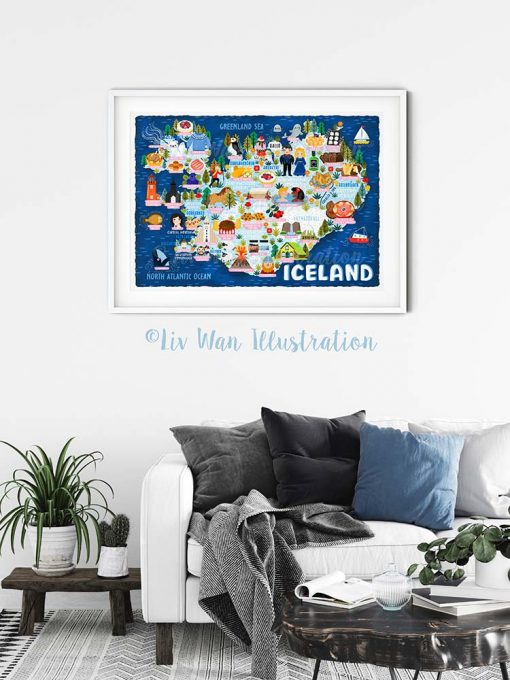 Iceland Map Poster