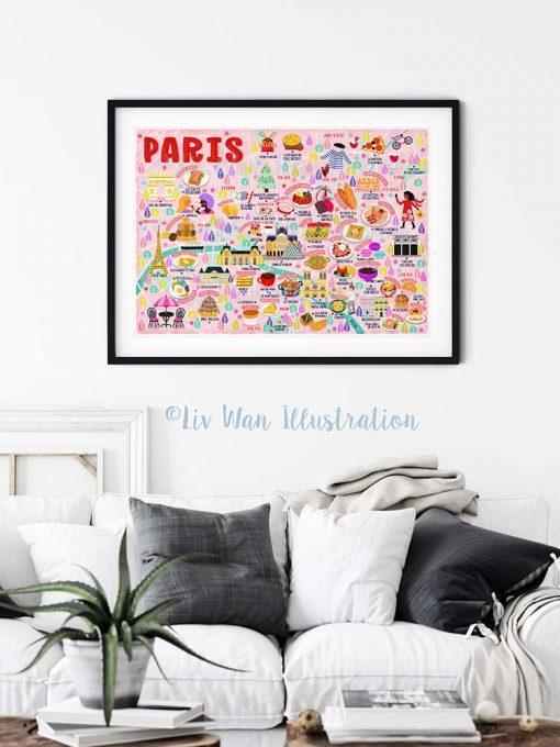 Paris Map Poster