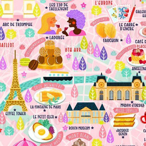 Paris map detail