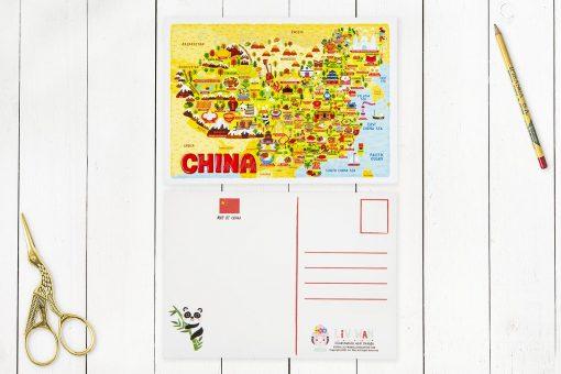 china map postcard
