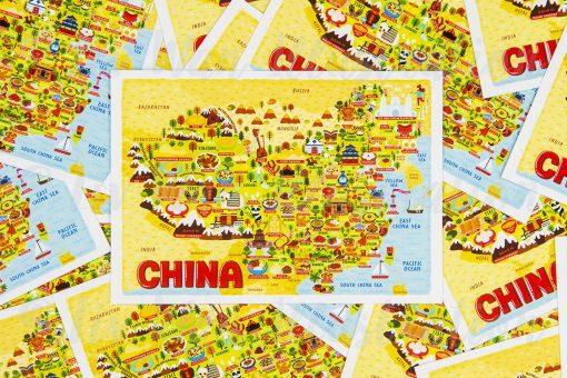 china map postcards