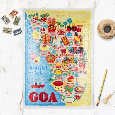 Goa Map Jigsaw Puzzle