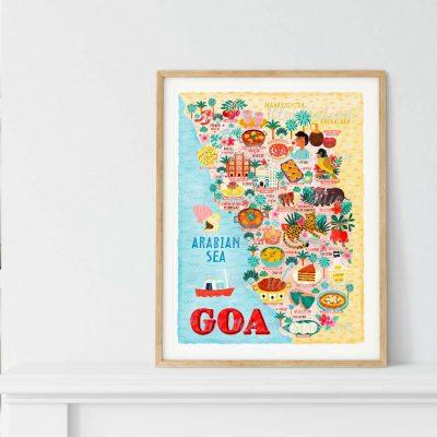Goa Map Poster